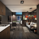 air residences - model unit - artist-s perspective - december 2015