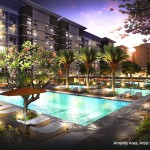 trees residences - amenity - pool - night - april 2013