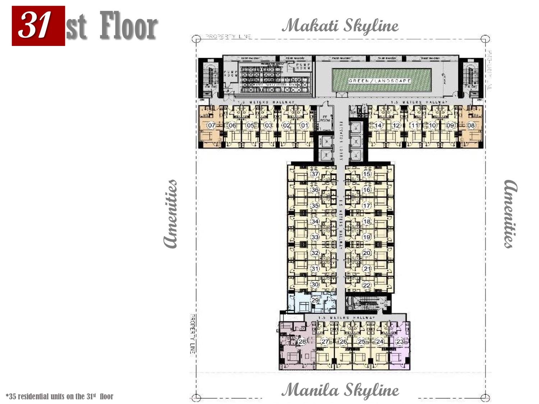 31st Floor Plan