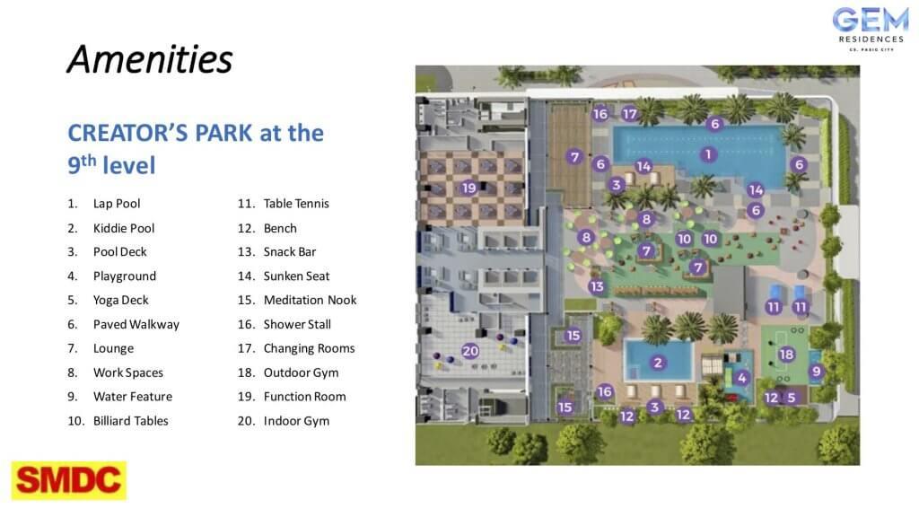 Amenities Creators Park